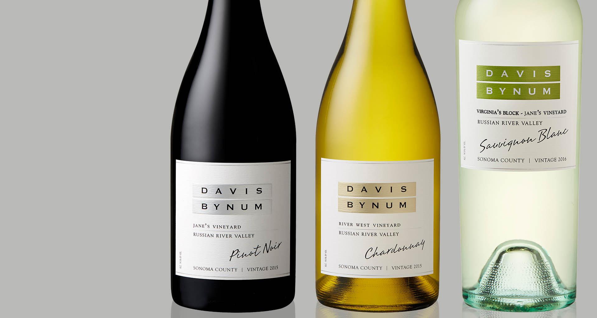 Davis Bynum Pinot Noir and Chardonnay